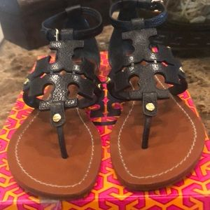 Tory Burch Phoebe Sandals in Black